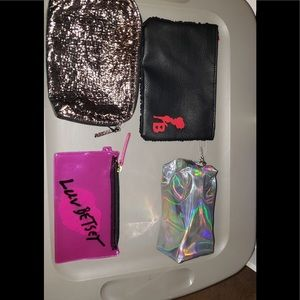 Lot of 4 Cosmetic Bags